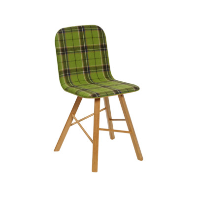 Tria Simple Chair Tartan Acid Green Fabric
