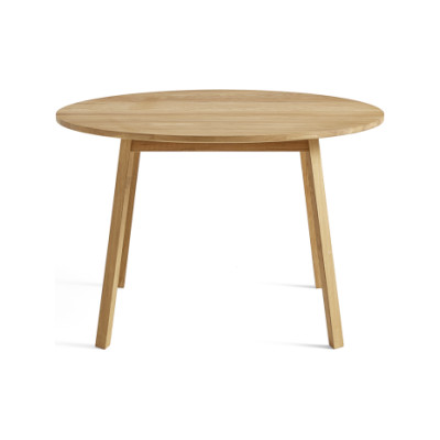 Triangle Leg Round Dining Table Soaped Oak