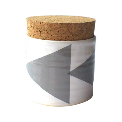 Triangles Sugar Jar  Grey