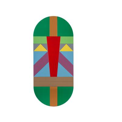 Tribal Masks Mirror Green Warrior