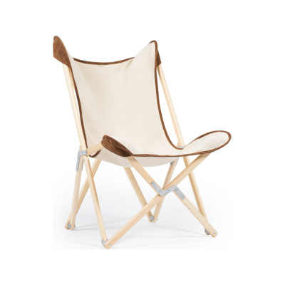 Tripolina Double Coloured Chair 1855 Suede, Natural Frame