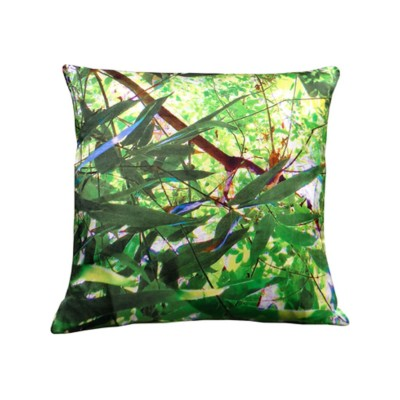 Tropical Multi Leaf Print Square Cushion Large