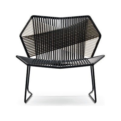 Tropicalia Armchair Stainless Steel, Faux Leather