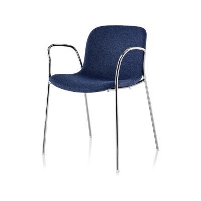 Troy Armchair - 4 Legs, Fully Upholstered - Set of 2 Black 5140 Frame, Divina Melange 2 180