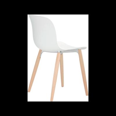 Troy chair, 4 Legs - Set of 2 Black Frame, Black Seat