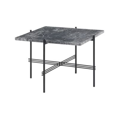 TS Coffee Table - Square 80 X 130 X 40, Grey Emperador Marble, Brass