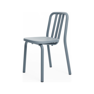 Tube Dining Chair Blue Grey