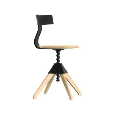 Tuffy Swivel Chair - The Wild Bunch Natural Seat and Frame, Yellow Back, Joint and Screw