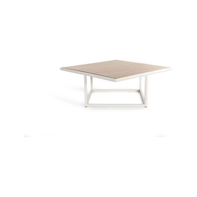 Turn Coffee Table - Deadgood Signal White - RAL 9005, Oak Veneer