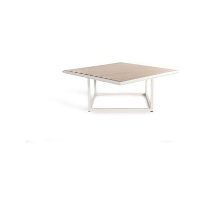 Turn Coffee Table - Deadgood Signal White - RAL 9005, Oak Veneer