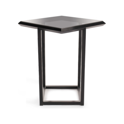 Turn Side Table - Deadgood Signal White - RAL 9003, Oak Veneer