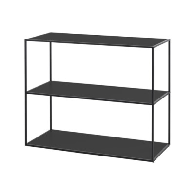 Twin Bookcase - 3 Shelves Black