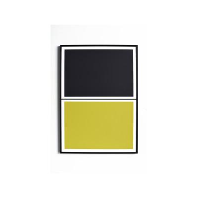 Twin Tone Play Screen Print - Soot Black & Yuzu Yellow Framed