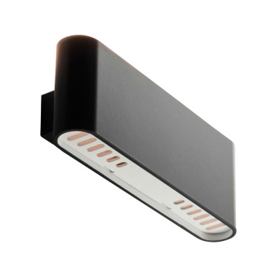 Two Flags Wall Light Black