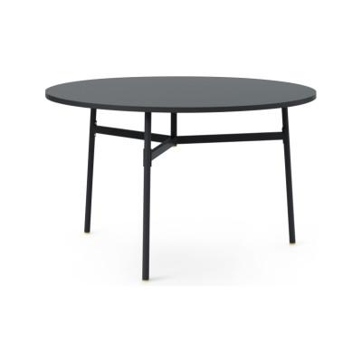 Union Round Dining Table Black, 120