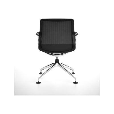 Unix Chair Four-star base Silk Mesh 24 soft grey, 04 glides for carpet, 53 soft grey