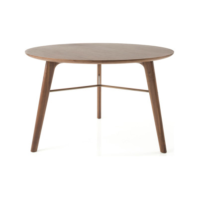 Utility Round Dining Table C1200 Wood Soap Finished Walnut