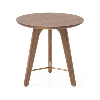 Utility Side Table Wood Soap Finished Walnut