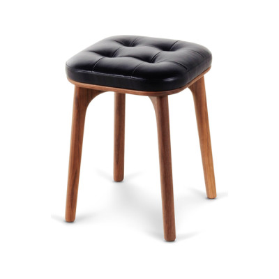Utility Stool H460 Wood Black Ash, Caress Peach