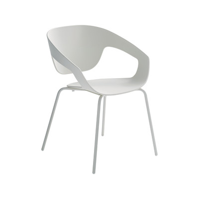 Vad Stackable Chair Four Leg Base- Set of 2 Steel, Sand