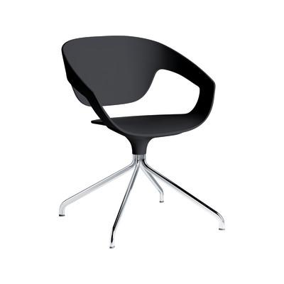 VAD Swivel Chair Chromed Metal, Black