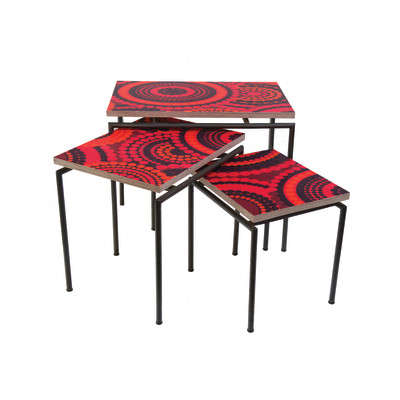 Vintage Fabric Nest of Tables