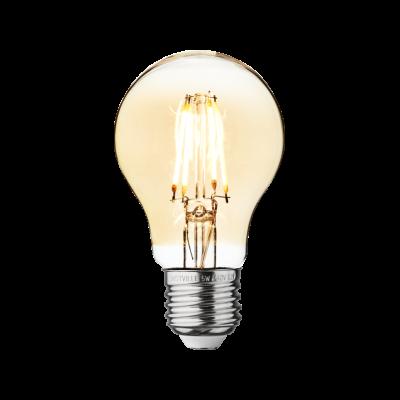 Vintage LED Edison Bulb Old Filament Lamp - 5W E27 Classic A60 Amber