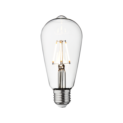 Vintage LED Edison Bulb Old Filament Lamp - 5W E27 Pear ST64 Clear