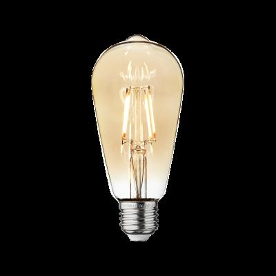 Vintage LED Edison Bulb Old Filament Lamp - 5W E27 Pear ST65 Amber