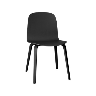 Visu Chair Wood Base Black