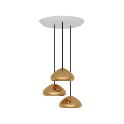 Void Trio Round Pendant System Copper