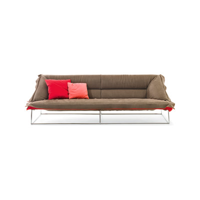 Volant 3 Seater Sofa Demi B0211 - Leather Oil cirè