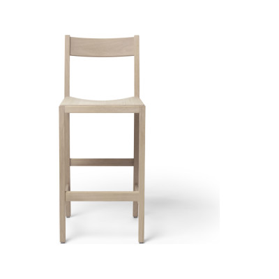 Waiter Bar Stool White Oiled Oak