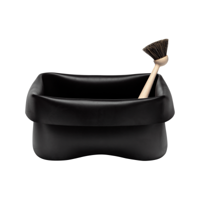Washing-up Bowl & Brush Black