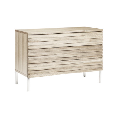 Wave 3 Drawer Chest Limed Oak