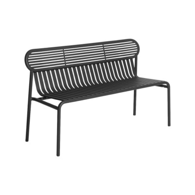 Week-End Bench Black, RAL 9005