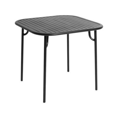 Week-End Square Table Black,RAL 9005