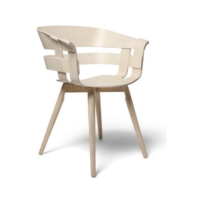 Wick Chair - Wooden Legs Ash