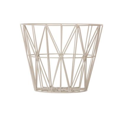 Wire Basket - Set of 4 Large, Light Grey