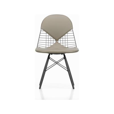 Wire Chair DKW 2 02 golden maple, 04 basic dark for carpet, Hopsak 71 yellow/pastel green