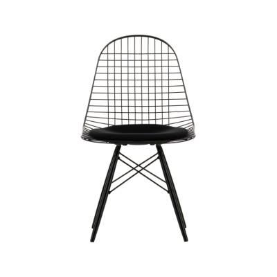Wire Chair DKW 5 02 golden maple, 04 basic dark for carpet, Hopsak 71 yellow/pastel green