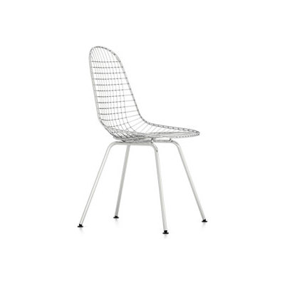 Wire Chair DKX 30 basic dark powder-coated, 15 felt white for hard floor