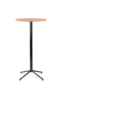 Working Girl Bistro Poser Table Raw Steel, High