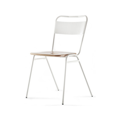 Working Girl Dining Chair Raw Steel