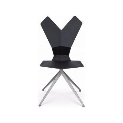 Y Chair Swivel Base Black Shell, Aluminium Base