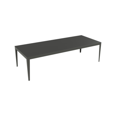 Zef Aluminium Rectangular Table 280x115 Tapered Legs, Matt Varnish Galva - 28 RAL NA