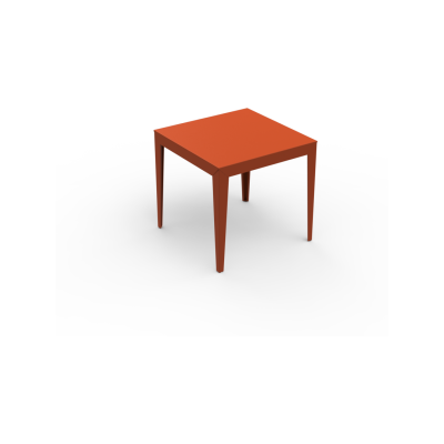 Zef Aluminium Square Table 80x80 Matt Varnish Galva - 28 RAL NA, Tapered Legs