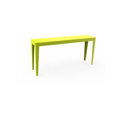 Zef Outdoor Console Table 160x35 White - 01 RAL 9016, Straight Legs