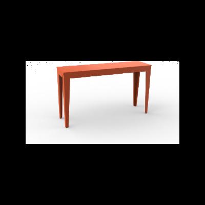 Zef Steel Console Table 103x35 No, Straight Legs, Matt Varnish Galva - 28 RAL NA