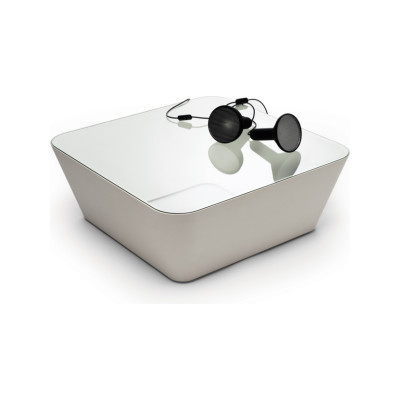 Zero-In Coffee Table White, Transparent